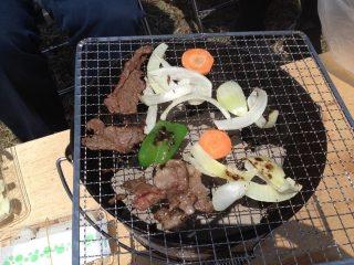焼肉と野菜