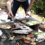 ◆さとらんどでバーベキュー◆真夏日の札幌で焼けこげるのは 果たして 肉か、わたくしか、